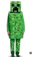 Boys Minecraft Creeper Deluxe Costume Green (S) 4-6