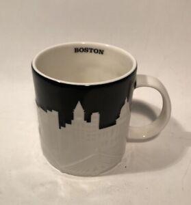 Starbucks City Relief Mug Boston Collector Series 2012 Embossed Black White
