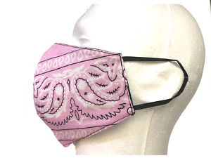 REVERSIBLE New Bandanna Face Mask 100% COTTON Handmade, Washable, Reusable