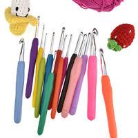 Crochet Hook Aluminum Hook Soft Grip Multicolor Knitting Needle Home Supplies