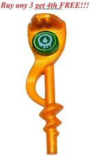 ☀️ Lego Weapon Pearl Gold Serpent Snake Staff Round Green Tile VENOMARI Ninjago