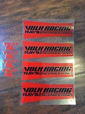 JDM Reflective VOLK Racing TE37SL Wheel sticker decals red letter Drift