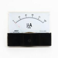 Dc 0 100ua Scale Range Current Panel Meter Amperemeter Gauge 44c2 Ammeter Analog