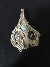 Wire Wrapped Green Tourmaline Pendant