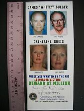 Fugitives autograph and story, Whitey Bulger and Catherine Greig