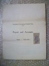 SUNDERLAND FC Ltd Annual Accounts & Directors Reports Y/E 1934, 5th May- RARE***