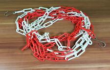 3 Meter Absperrkette Rot Weiß Warnkette Plastikkete Kunststoffkette TOP!