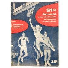 Vintage RARE 1955 31st Annual State High School Basketball Tournament Yearbook