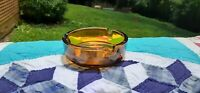 Vintage Mid Century Modern Amber Glass Ashtray Tobacciana, Collectable Ashtray