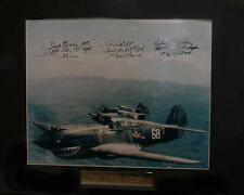Flying Tigers, Chuck Older, Tex Hill, Dick Rossi, Autographed by 3 WW2 Aces