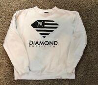 Diamond Supply Co Crew Neck Sweater Size Large White Black