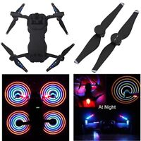 LOW-NOISE LED Flash Propeller USB Rechargeable  Night Fly Prop For DJI Mavic Air