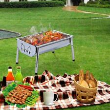 Charcoal Grill Barbecue Portable - Stainless Steel Folding BBQ Camping Grill