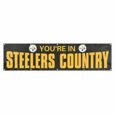 Party Animal BYSC1 Steelers 8ft X 2ft Banner Black