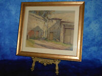 J BARRIE ROBINSON British early c20th Old Barn, Grassington Watercolour Painting