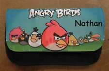 Personalizado Angry Birds Estuche Negro-Incluye Nombre Gran Regalo Boys & Girls