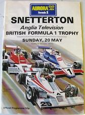 Snetterton Britannico di formula 1 Trophy 20th MAGGIO 1979 RACING PROGRAMMA UFFICIALE