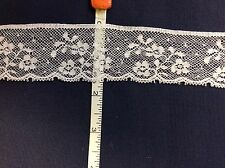 """FRENCH LACE #2/10715 WHITE EDGING 1 5/8"""" WIDE--4 YARDS"""