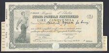 STORIA POSTALE Repubblica 1946 Buono Postale USATO (E7)