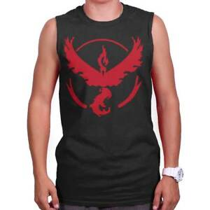 Team Valor Go Red Master Trainer Gamer Gift Adult Sleeveless Crewneck T Shirt