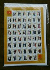 THE COMMUNITY OF NATIONALITIES OF VIETNAM 54 Stamp Sheet COLLECTION