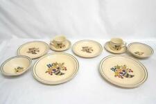 Versatone by Noritake Dinnerware 2 Place Settings Plate Bowl Mug Speckle Fruit