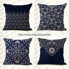 Us Seller-4pcs home interior decoration cushion covers Chinese porcelain
