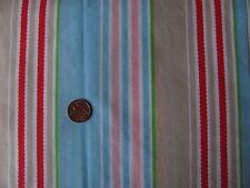 Cath Kidston ric rac stripe blue FQ 50cm lightweight cotton fabric rare