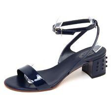 F0450 sandalo donna blue TOD'S scarpe patent shoe sandal woman