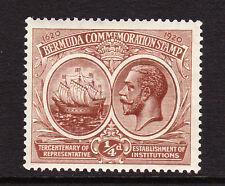 BERMUDA 1920-21 ¼d BROWN TERECENTENARY SG 59 MNH.