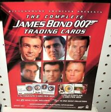THE COMPLETE JAMES BOND 007  TRADING CARDS - PROMOTIONAL  SELL SHEET  8 1/2 x11