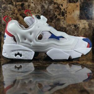 Reebok FU9113 Insta Pump Fury OG MU Running Shoes White Blue Red Sneakers Sz 7.5
