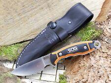 SOG Huntspoint Messer Fahrtenmesser Jagdmesser AUS8 Stahl+Lederscheide HT011L-CP