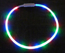Fabulous Flashing 20 LED Tube Necklace! Great for people with autism