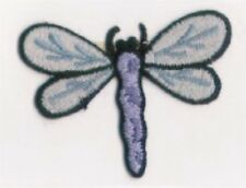 Blue Spring Dragonfly Insect Embroidery Patch