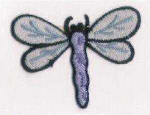 Bleu Ressort Libellule Insecte Broderie Patch