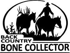 Country Bone Collector Horse Deer Hunt Car Truck Window Wall Vinyl Decal Sticker