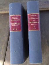 Dictionnaire arts lettres et sciences Bolillet  2 volumes début XXe