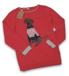 Joules Girls Miranda Knitted Jumper Red Age 4 Years BNWT NEW