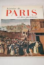 Histoire de Paris et des parisiens,très illustré-1958