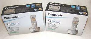 Lot of 2 Panasonic Dect 6.0 Plus KX-TG4011 Digital Cordless Phone New Old Stock