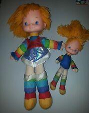 "Vintage 1983 Rainbow Brite Dolls Lot of 2 18"" and 10"""