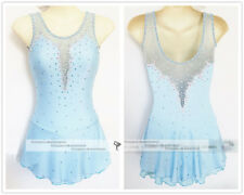 Blue Ice Figure Skating Dresses Custom Adult Competition Skating Wear Girls W092