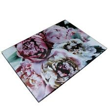 SiL Set of 2 Glass Bloom Dining Floral Design Placemats Dinner Mats