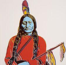Andy Warhol Sitting Bull canvas print giclee 8X8&12X12 art reproduction