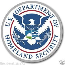 Dept of Homeland Security Sticker Decal Self Adhesive Vinyl department