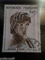 FRANCE 1982,TP 2169 ARTISTIQUE EPHEBE D AGDE  oblitéré CACHET ROND cancel STAMP