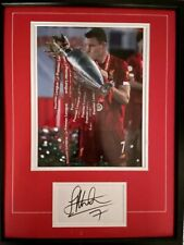 More details for signed framed james milner liverpool autograph card + mounted photo champions