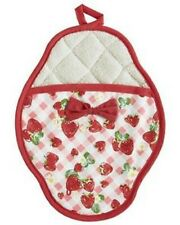 SALE! Jessie Steele StrawBerry Gingham  SCALLOPED POTHOLDER (NEW WITH TAGS)