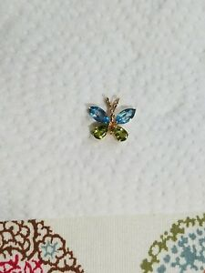 Butterfly Pendant Topaz and Peridot